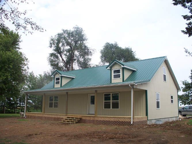 Lovely & Simple Metal Building Home Of 1935 Sq. Ft. (Plan
