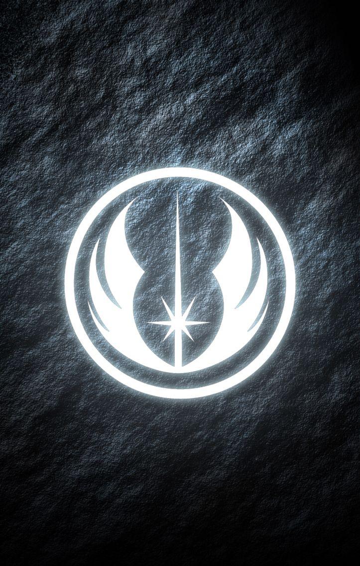 Jedi Order Star Wars phone wallpaper. Glowing symbol. My