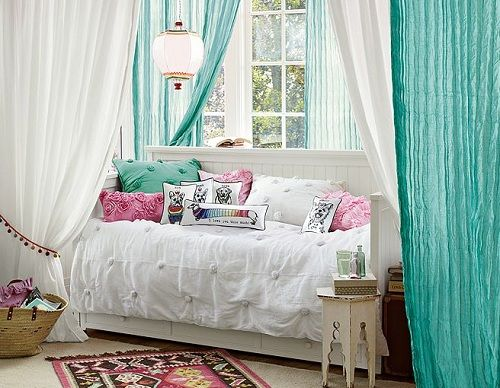 Decorating Bedrooms, Sheer Curtains And Bedrooms On Pinterest