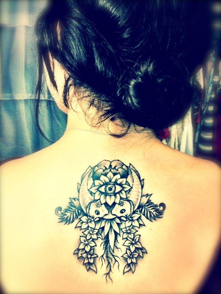 beautiful hamsa tattoo. The hamsa has a lot of meaning