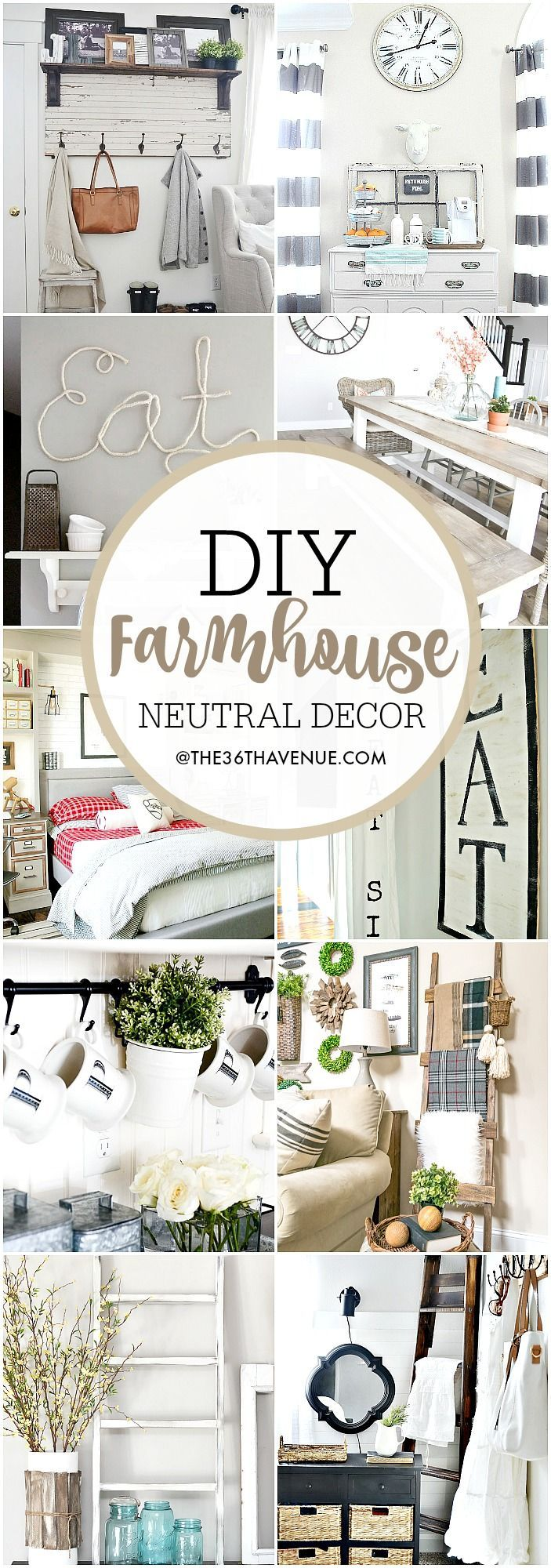 Farmhouse DIY Decor Ideas – Over 100 DIY Farmhouse Home Decor Ideas that are perfect to give your own home the charming and