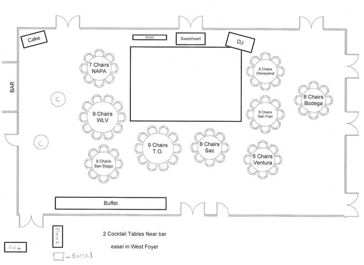 Sample Seating Chart And Floor Plan.