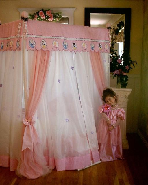 Canopy Tent Beds For Girls Disney Princess Canopy Bed
