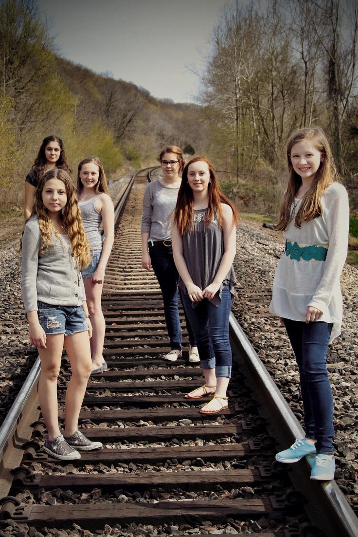 BFF Photos Train Tracks 2. Best Friends Photo Shoot