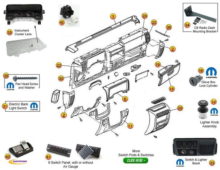 Jeep Wrangler TJ Instrument Panel