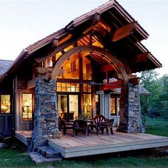 Small Montana log cabin. I would love to either rent this for a few weeks or you know, just live there