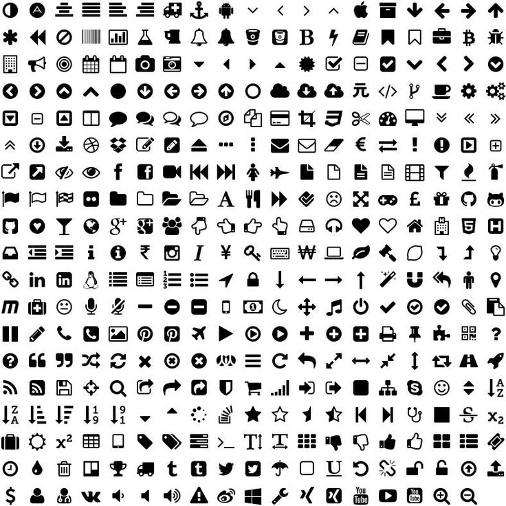 Font Awesome Icons Starter materials Pinterest Fonts