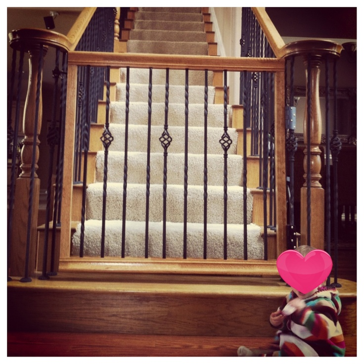 Baby gate that matches your staircase!! Home Sweet Home