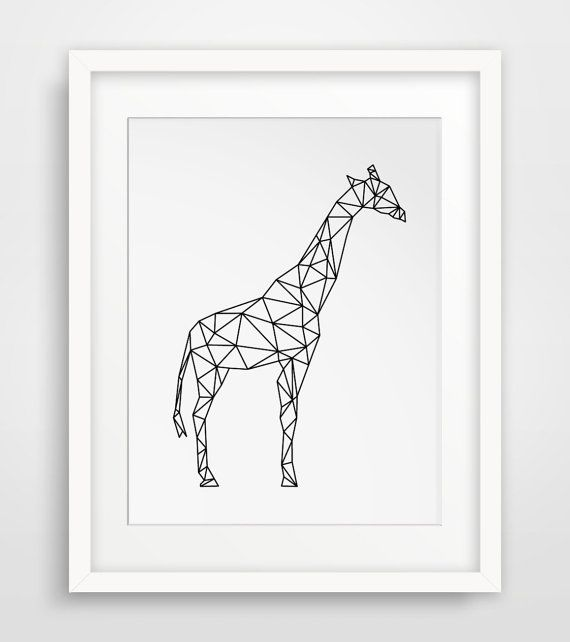 geometric animal print giraffes giraffe by melindawooddesigns