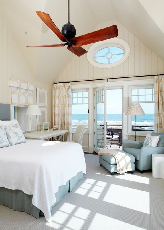 Love the colors and tranquility in this beach house bedroom. Just would change t