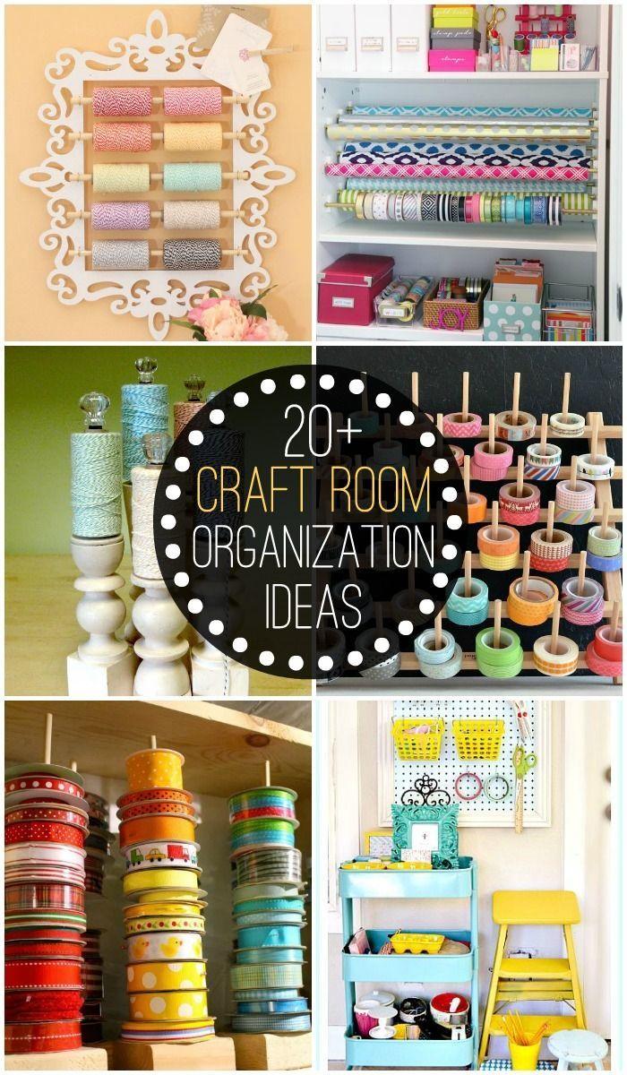 20+ Craft Room Organization Ideas to help keep your craft