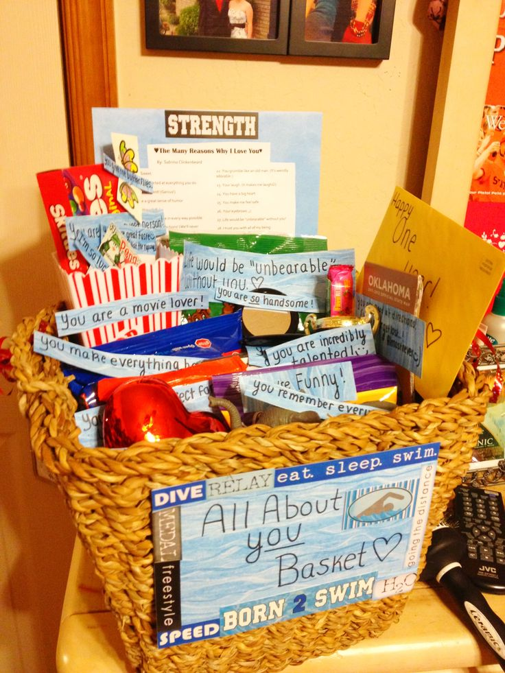 All about you basket for an anniversary. ) Very sweet and
