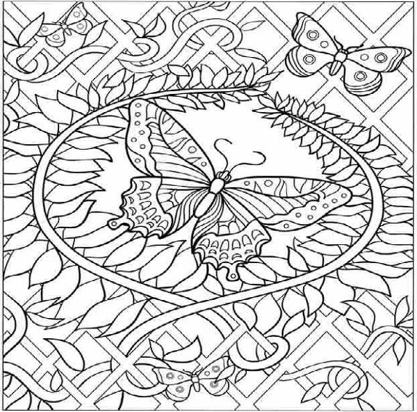 hard butterfly coloring pages 600x592px coloring pages for kids hard