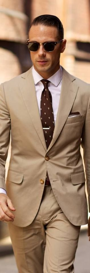 Image result for light brown suit for men
