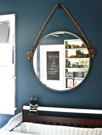 Turn a Grundtal mirror ($34.99) into a Restoration Hardware-worthy piece. | 37 Cheap And Easy Ways To Make Your Ikea Stuff Look Expensive: