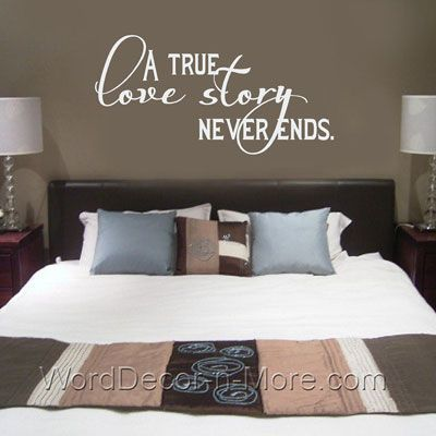Master Bedroom Wall Quote Removable