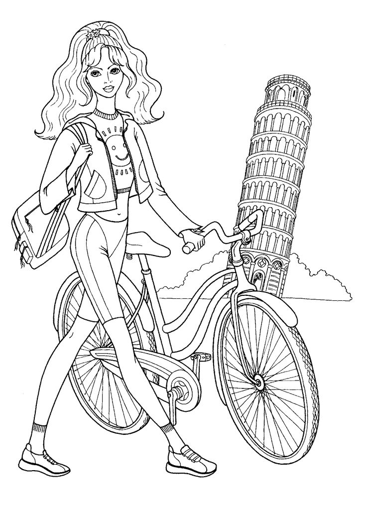 Fashionable girls coloring pages 7 Colouring Mania