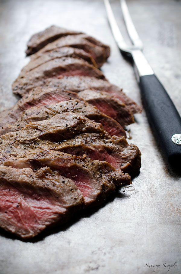 Beer Marinated Grilled Flat Iron Steak Recipe Summer