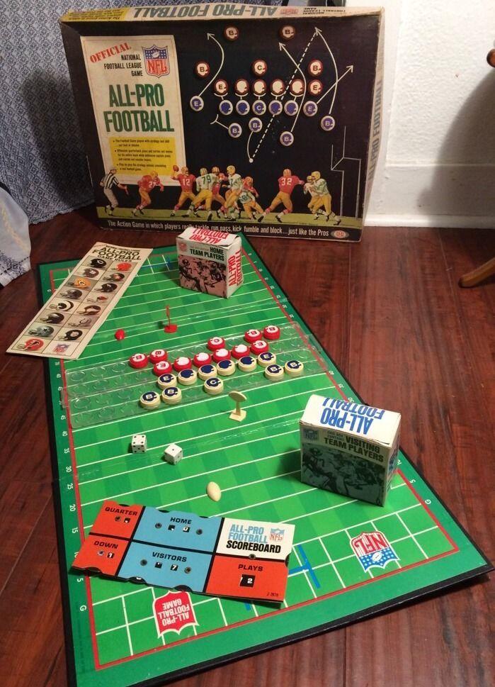 AllPro Football Board Game Sport's Games Pinterest