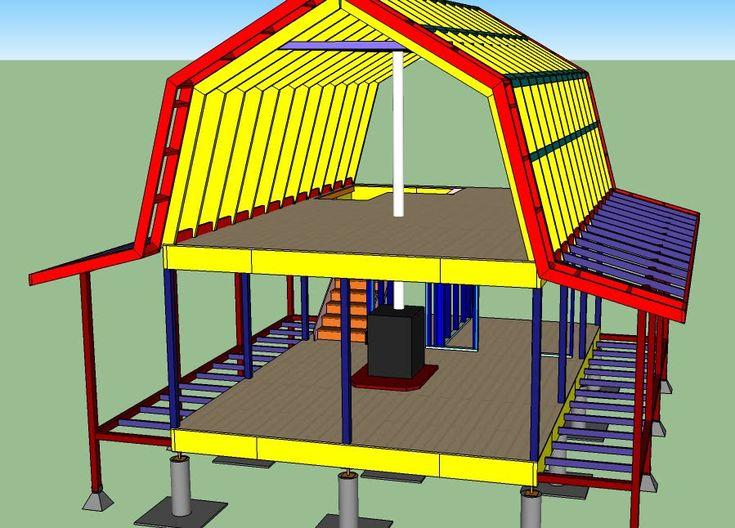 Gambrel Roof Cabin 16x24 Weekend Retreat Pinterest