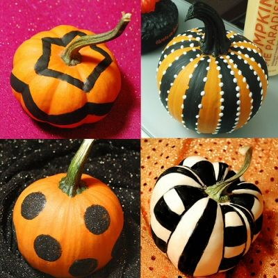mini painted pumpkins for the kids to do