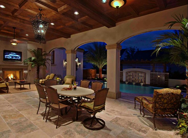 Outdoor Entertaining Elevated From Pool Area Inquire