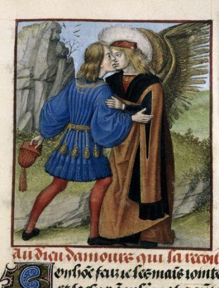 Image result for medieval manuscript kiss