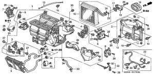 DIAGRAM FOR HONDA POLIT 2003 | HEATER UNIT Honda OEM Parts