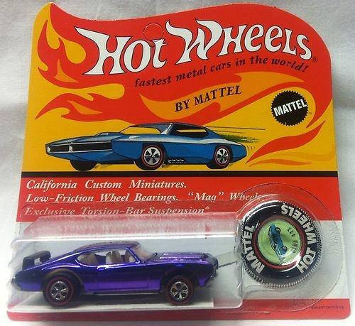 Hot Wheels Redline 1971 Purple Olds 442 in MINT blister