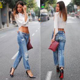 #stealthelook #look #looks #streetstyle #streetchic #moda #fashion #style #estilo #inspiration #inspired #jeans #calça #camisa #scarpin #Louboutin #preto #Bolsa #clutch #vermelha