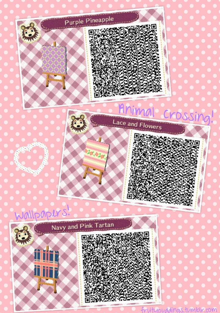 Some cutie pattern QRs I created. Perfect for wallpaper or