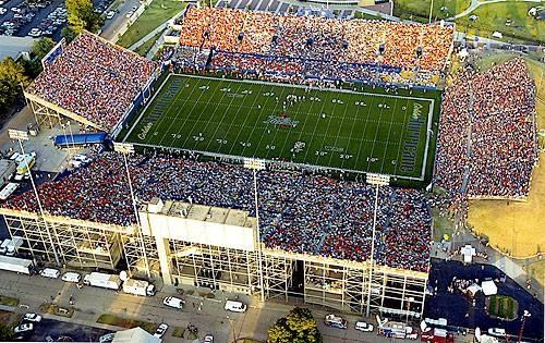 University of Tulsa Golden Hurricane aerial view of