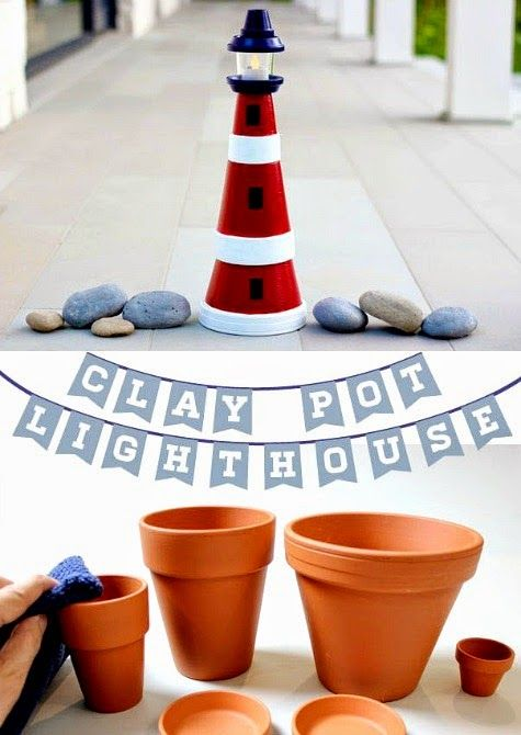 How To Make A Lighthouse From Clay Pots Lighthouses