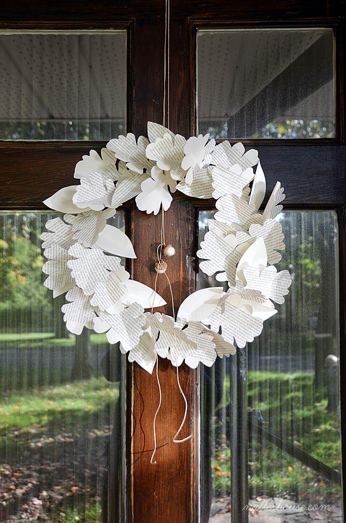 DIY Paper Leaf Wreath Tutorial You Need >Tree