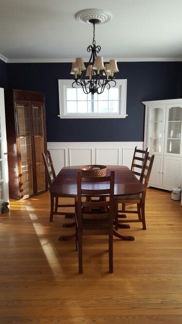 Benjamin Moore Hale Navy Dining Room Family Home