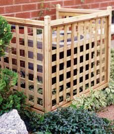 Easy-to-build lattice screen – to hide air conditioning unit when it goes in
