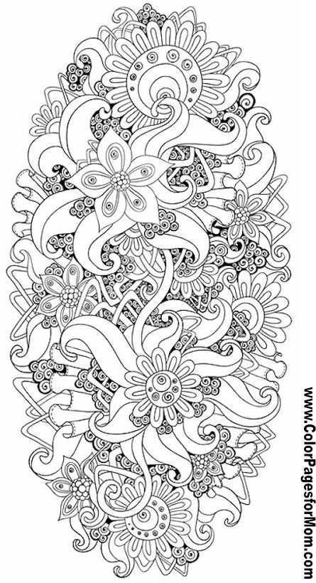 Flower Abstract Doodle Zentangle ZenDoodle Paisley Coloring pages colouring adult detailed advanced printable Kleuren voor