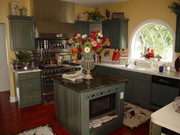 Sage Green Kitchen Cabinets Country Kitchen Sage Green
