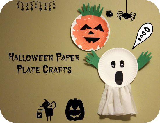 Paper Plate Ghost Halloween Craft For Preschoolers