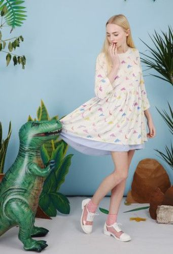Dinosaur Smock Dress Multicolour £55 from THE WHITEPEPPER