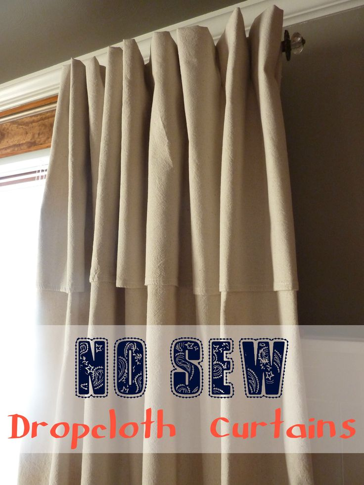 Master Bedroom Makeover No Sew Dropcloth Curtains In Which We Use Painting Supplies To Make