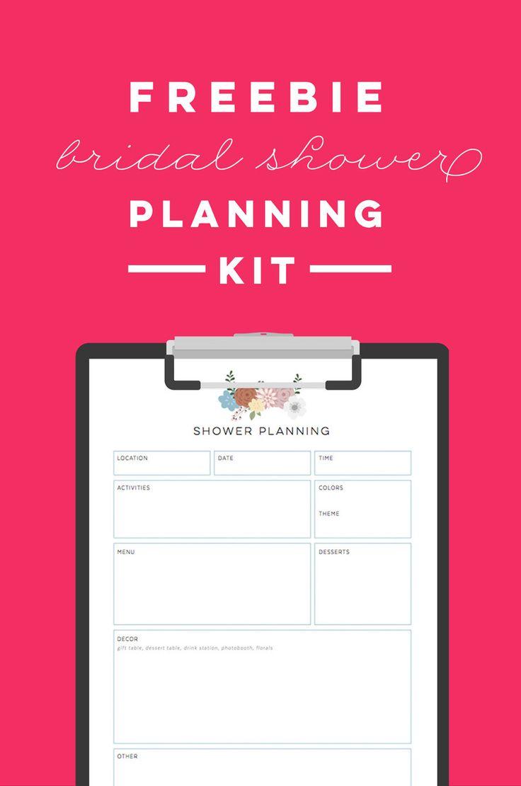 FREE Printable Bridal Shower Planning Kit To Do List