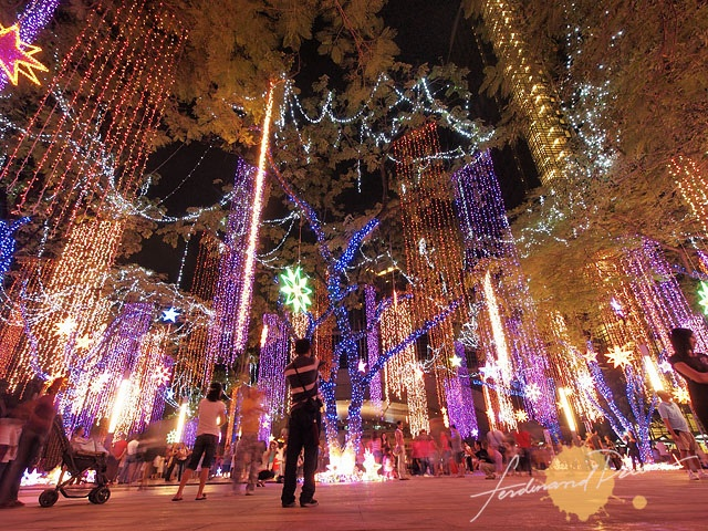 Ayala Triangle Garden during Christmas Nights MAnila