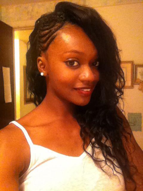Long Weave Half Braided Black Women Hair Goals