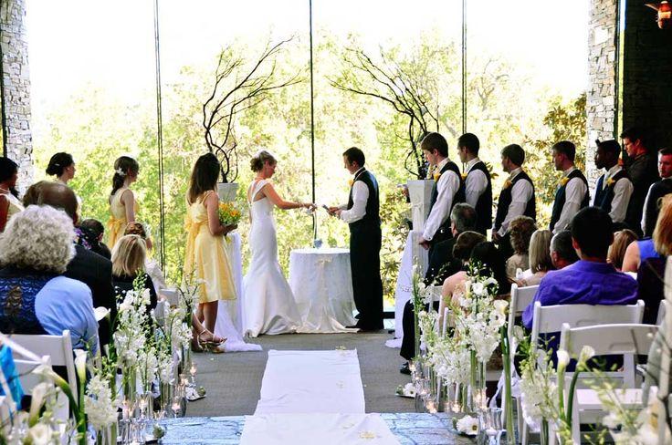 Simple Indoor Wedding Altar Decorations