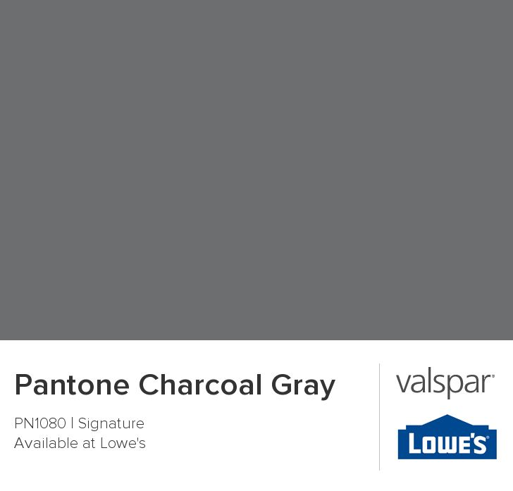 Pantone Charcoal Gray From Valspar Paint Ideas