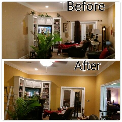 Painted My Living Room Amber Brew Is Color By Behr