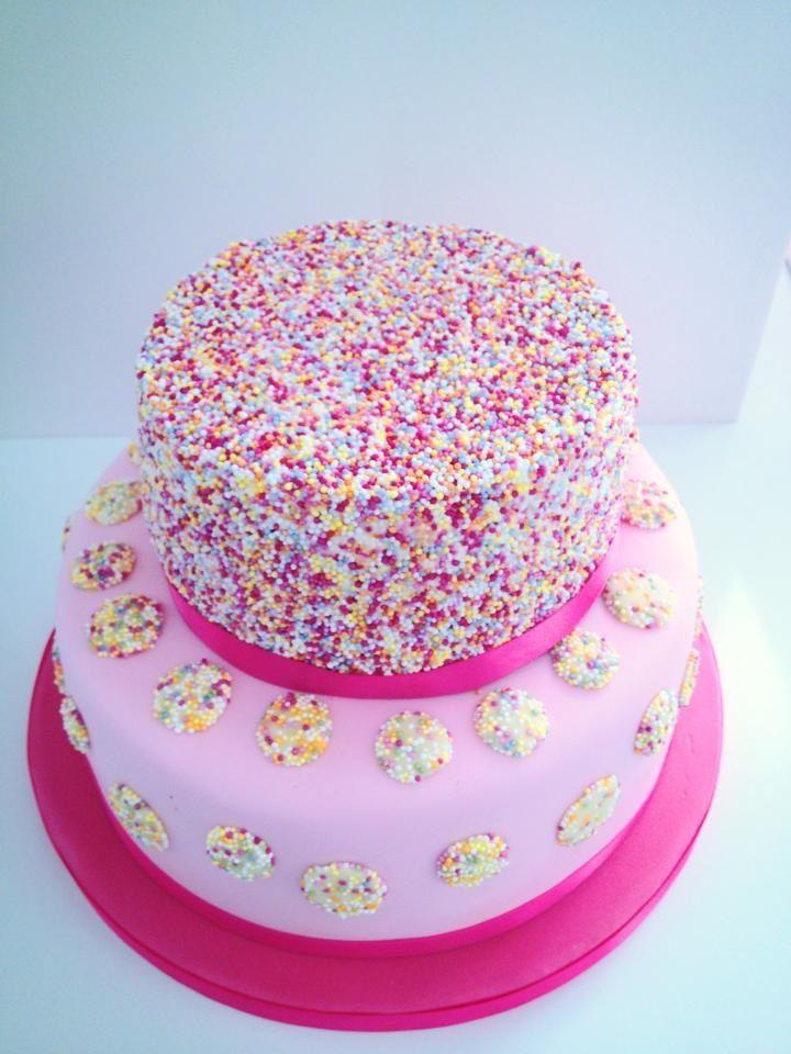 Two Tier Birthday Cake Birthday Cakes Pinterest