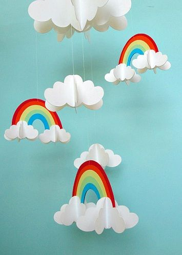 Paper Clouds Mobiles And Cloud On Pinterest