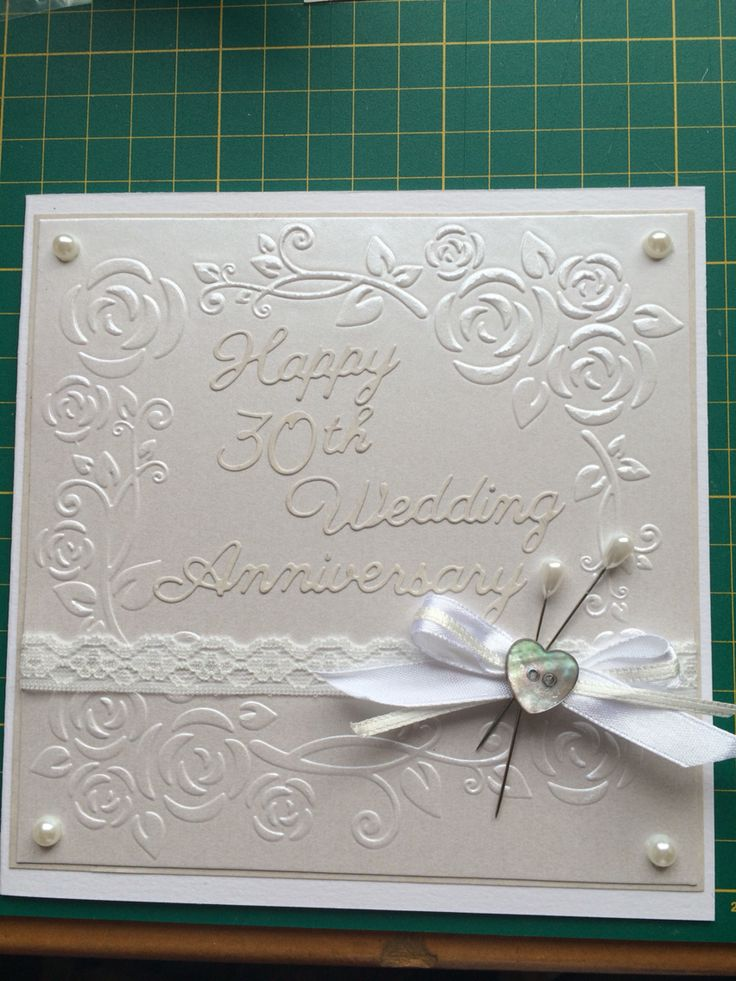 Handmade 30th Wedding Anniversary Card Britannia Dies